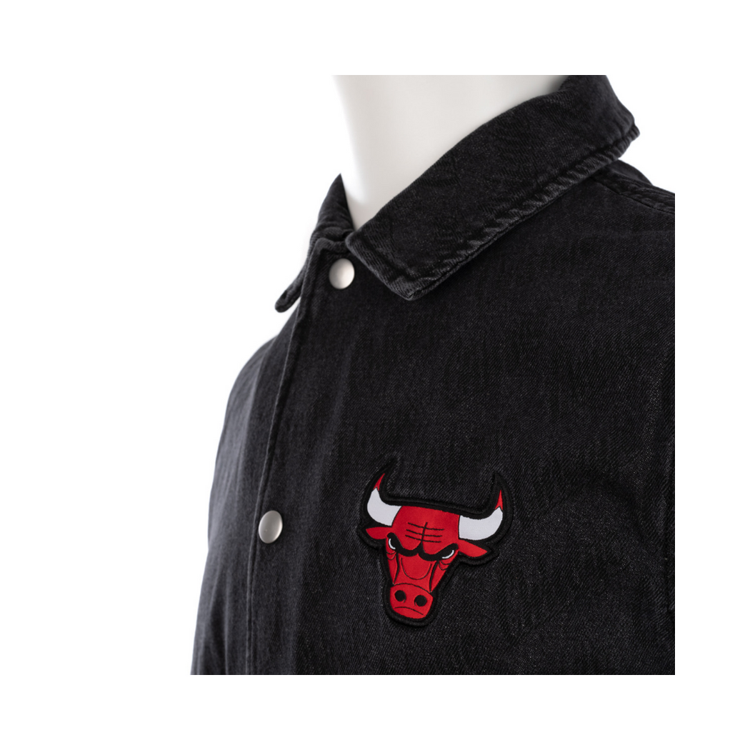 new era nba denim coaches chicago bulls jacket