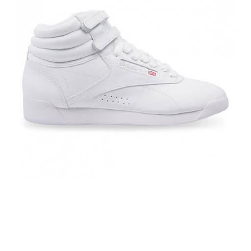 reebok wmns freestyle high - white/silver sneaker