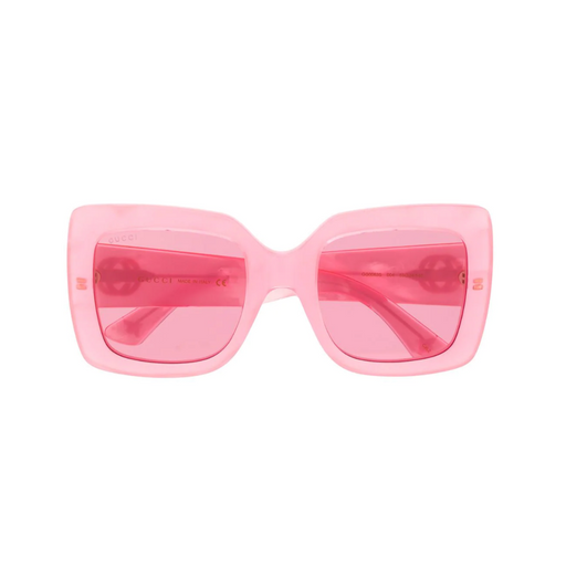 gucci layered pink acetate woman sunglasses
