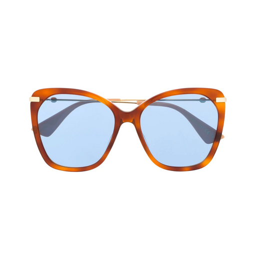 gucci mottled frame sunglasses