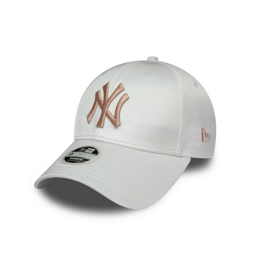 new era New York MLB Satin 9Forty - White cap