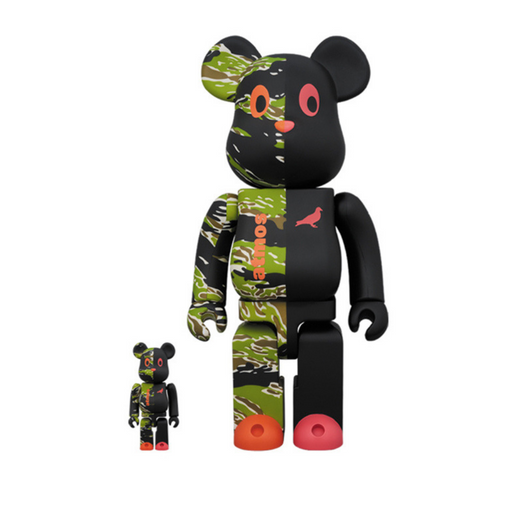 ATMOS x STAPLE x MEDICOM TOY 400%+100% BE@RBRICK V2