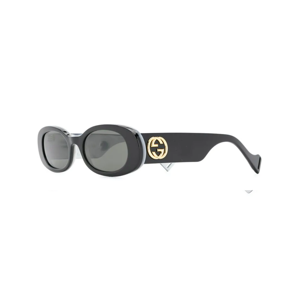 gucci logo plaque sunglasses