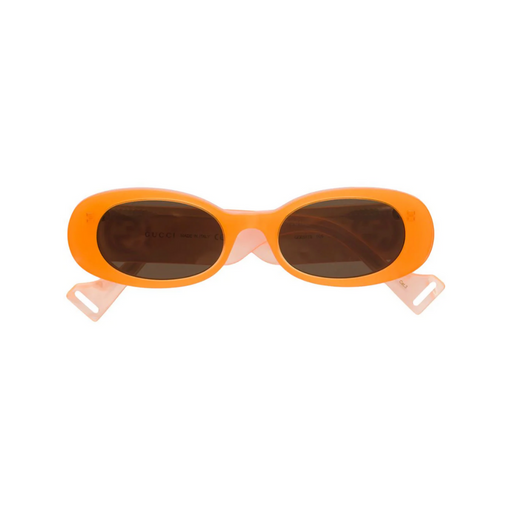 gucci orange round frame sunglasses