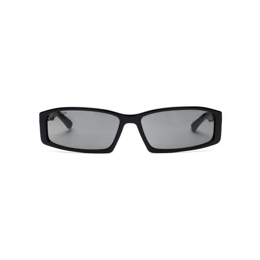 balenciaga rectangle black unisex sunglasses