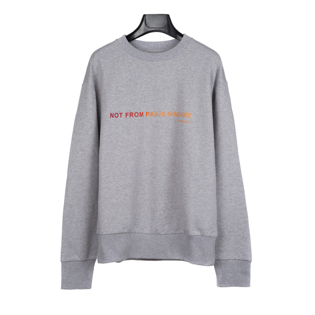 drole de monsieur slogan shaded sweatshirt