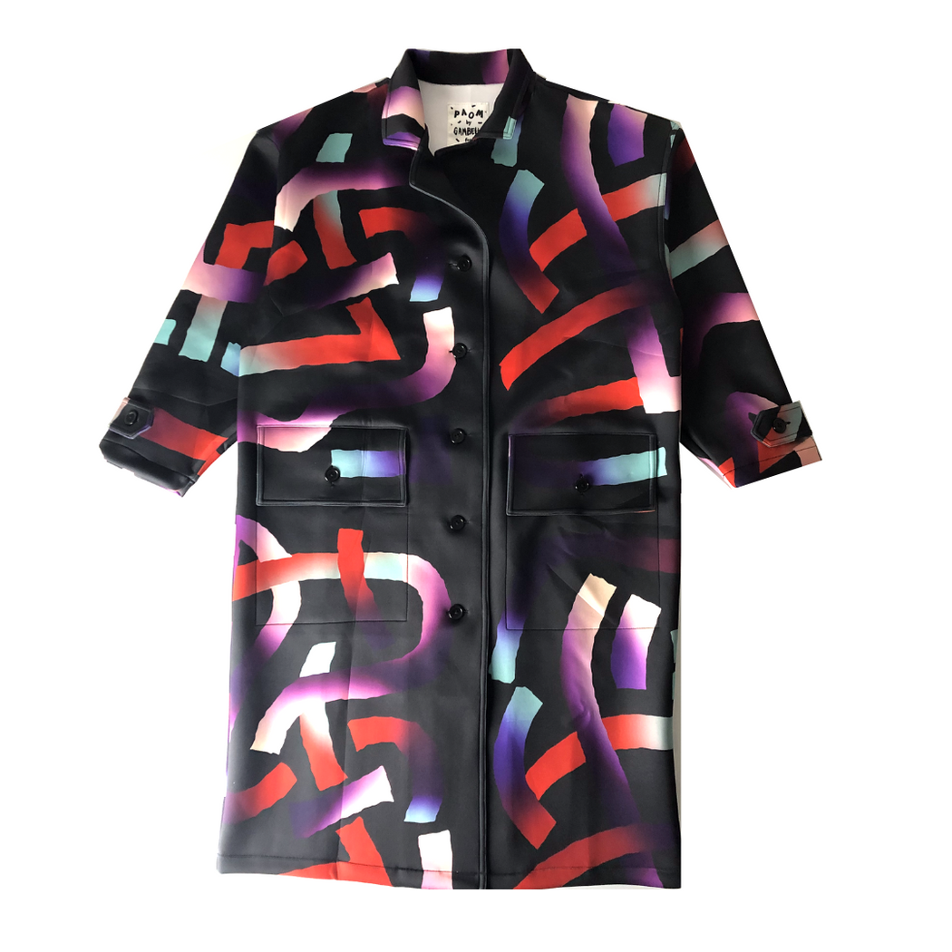 gambette x paom for nous neoprene trench