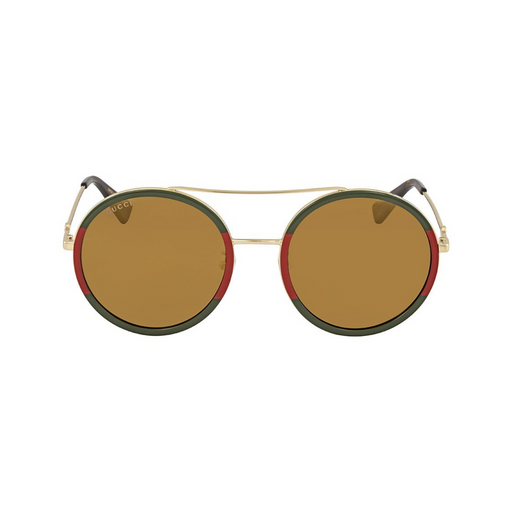 gucci green / red round woman sunglasses