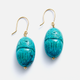 AURELIE BIDERMANN SCARABS BO TURQUOISE EARRINGS