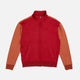missoni velour orange zip sweatshirt