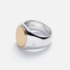 tom wood oval gold top ring