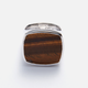 tom wood flush tiger eye ring