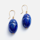 AURELIE BIDERMANN  LAPIS LAZULI SCARABS EARRINGS