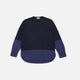 marni dark blue colour-block sweatshirt