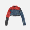 rick owens women patchwork denim jacket