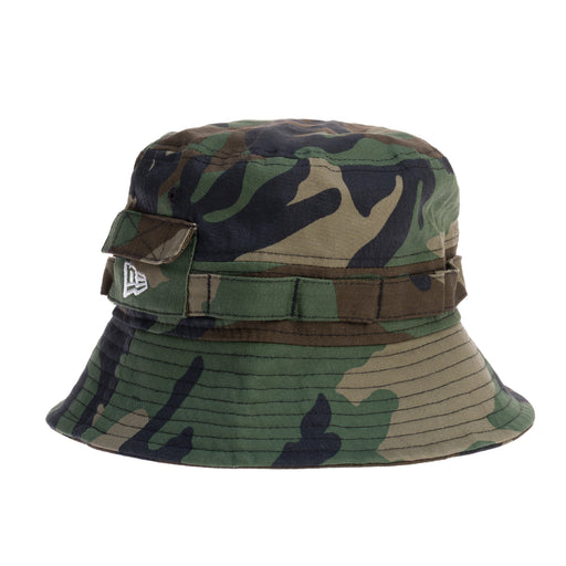 new era explorer woodland camo bucket hat