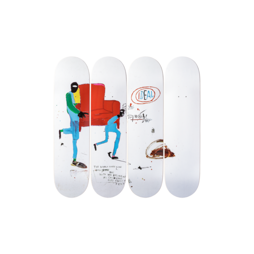 the skateroom jean-michel basquiat light blue movers set de 4