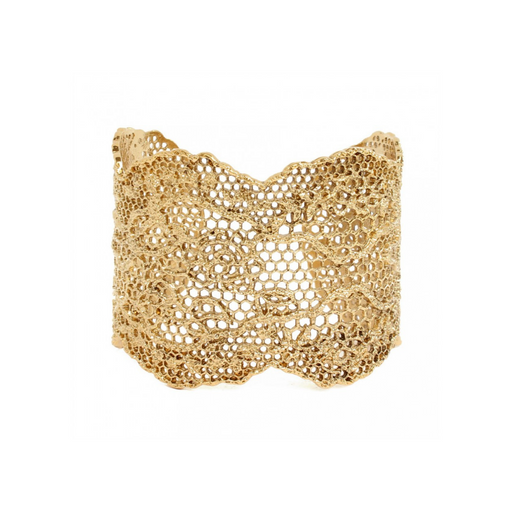 AURELIE BIDERMANN LACE JONC YELLOW GOLD