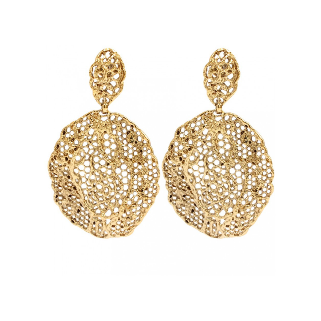10d656946 AURELIE BIDERMANN LACE EARRINGS YELLOW GOLD — nous