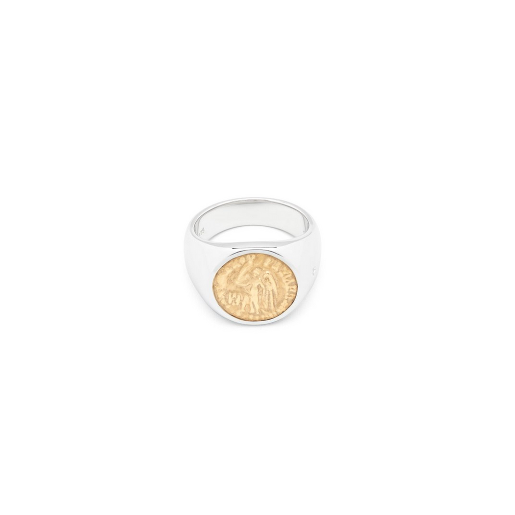 TOM WOOD COIN RING ANGEL GOLD (M) - nous