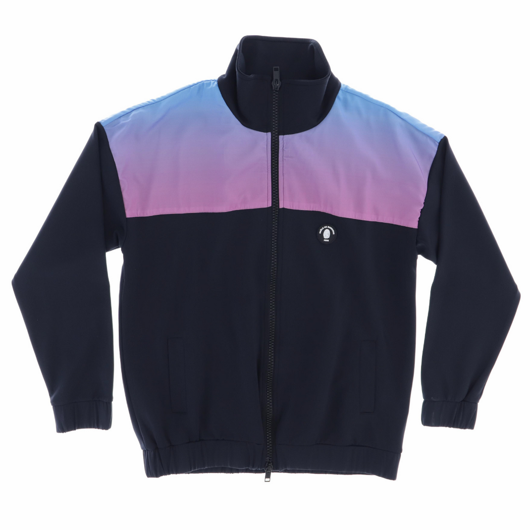 DROLE DE MONSIEUR X NOUS SHADED SATIN TRACKJACKET