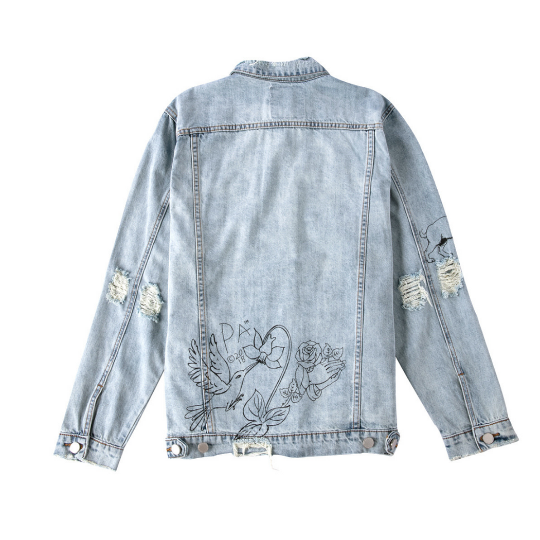 PROFOUND AESTHETIC HAND ART DESTROYED JACKET