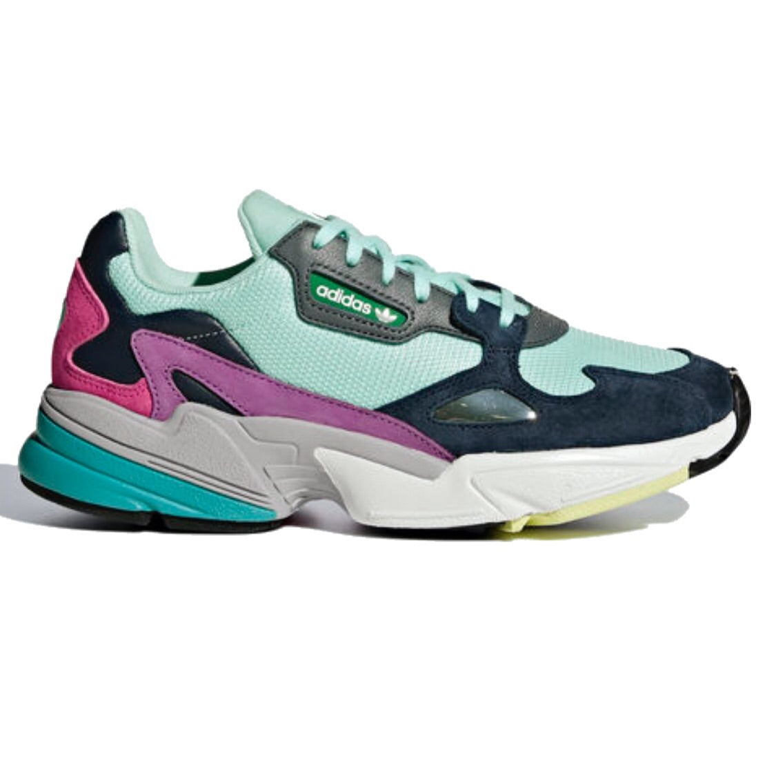exquisite style best sell price reduced adidas falcon w clear mint sneaker