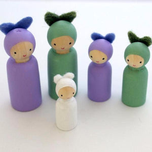 Rabbit Family Peg Doll Set