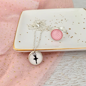 Ballerina Necklace and Ring Set