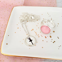 Girls ballerina necklace and ring set Happyful Nz