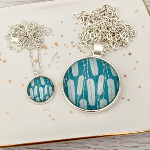 Matching Turquoise Feathers Necklace Set