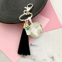 Succulent Key Ring and Bag Tag