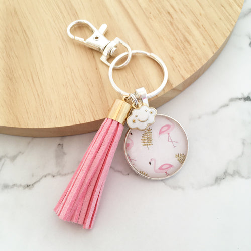 Flamingo Dreams Key Ring and Bag Tag