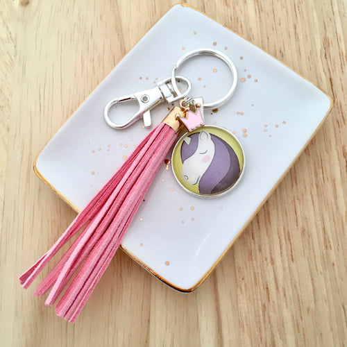 Princess Unicorn Key Ring and Bag Hook