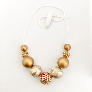 Gold Shimmer Bubblegum Bead Set