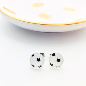 Cat Stud Earrings (10mm)
