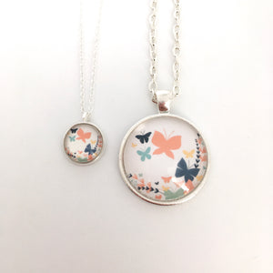 Matching Butterfly Necklace Set