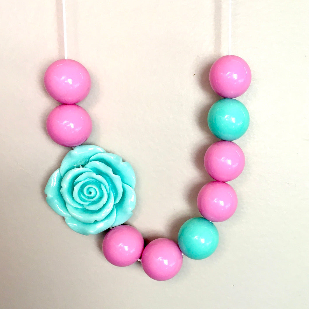 Pastel Dreams Bubblegum Bead Necklace