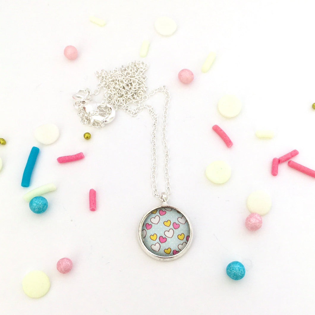 Girls Burst of Hearts Necklace