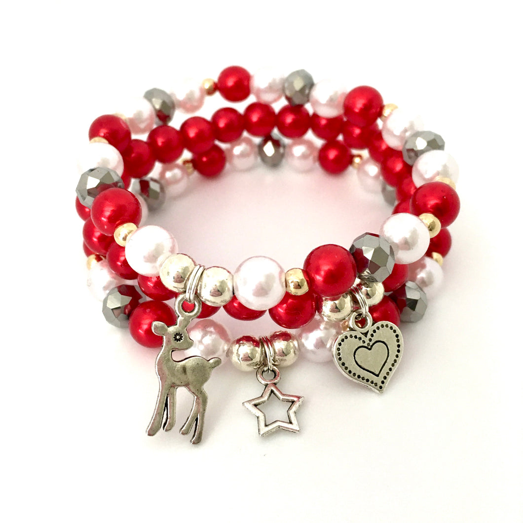 Christmas Wishes Stack Bracelet