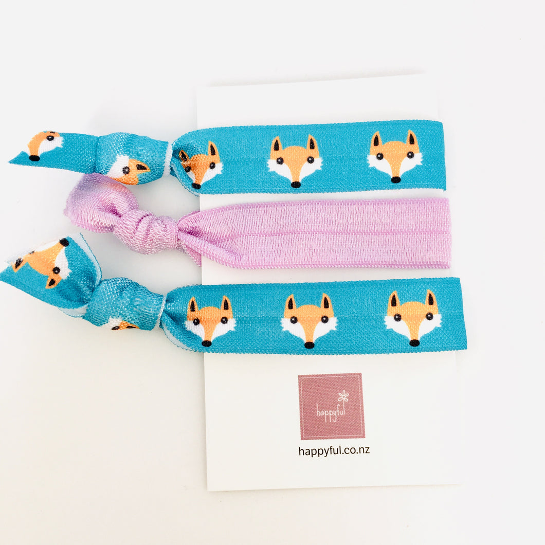 Fox elastic foe hairties set of three