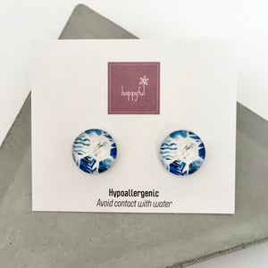 Blue Dreams Stud Earrings