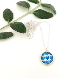 Girls Blue Hearts Necklace