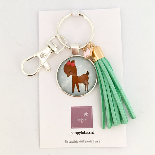 Little Fawn Key Ring / Bag Tag