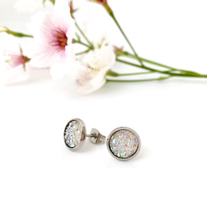 Sparkle Stud Earrings (8mm)