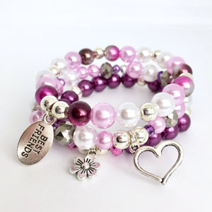 Purple Best Friend DIY Stack Bracelet Kit