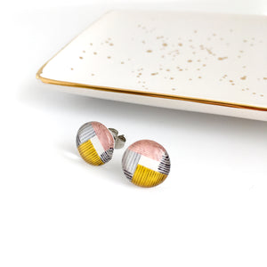 Abstract Squares Stud Earrings