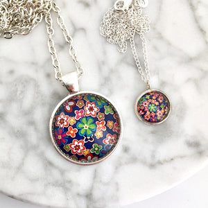 Matching Floral Garden Necklace Set
