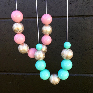 Bliss Bubblegum Bead Necklace