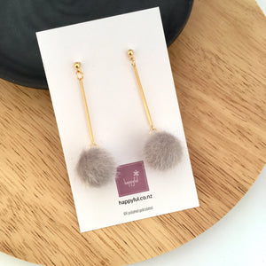 Pompom Puff Earrings